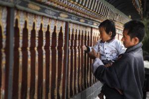 Bhutan people pray