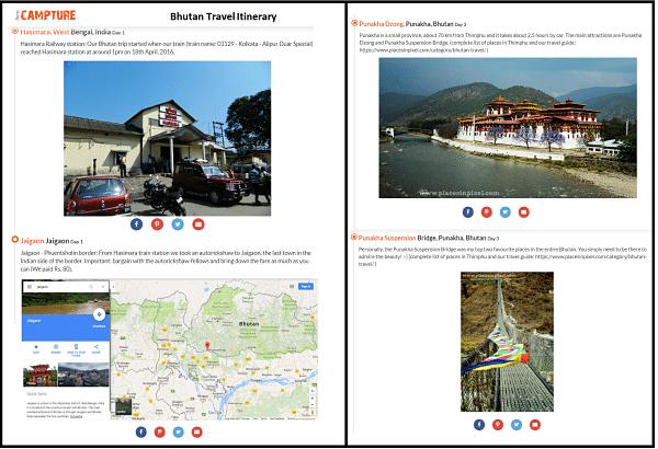 Bhutan travel itinerary
