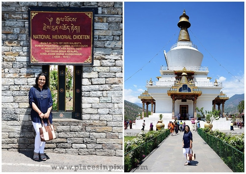 National Memorial Chorten Thimphu Bhutan