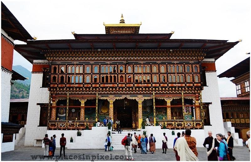 The Tashichho Dzong thimphu bhutan