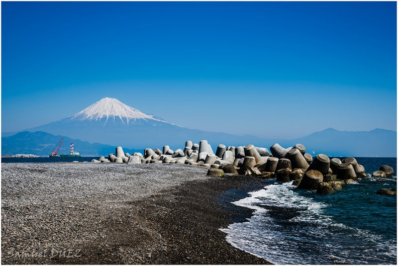 see mount fuji from_miho_beach