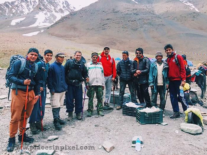 our stok kangri trekking group