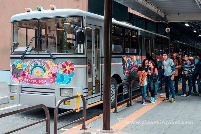 trolley bus tateyama
