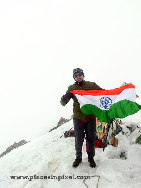 at Stok Kangri peak