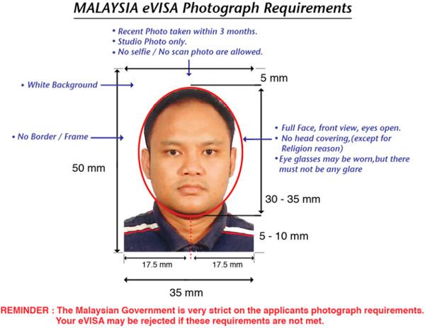 malaysia visa photo requirements