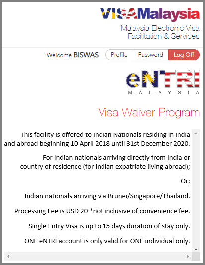 entri Malaysia visa