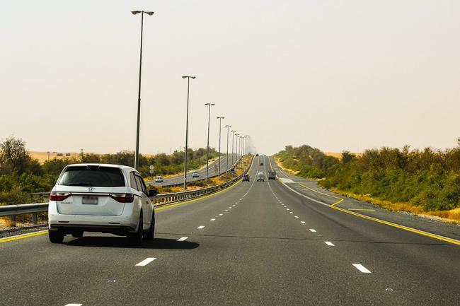 Driving in Abu Dhabi