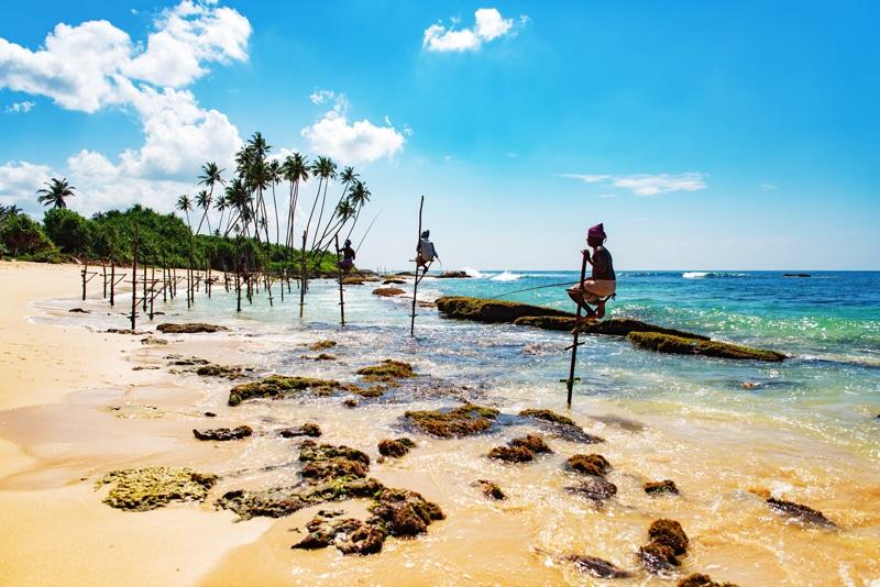 stick fishing Stilt fishing